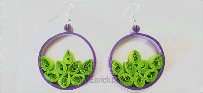 Easy Quilling Craft: How to make Easy Paper Quilling Hoops.