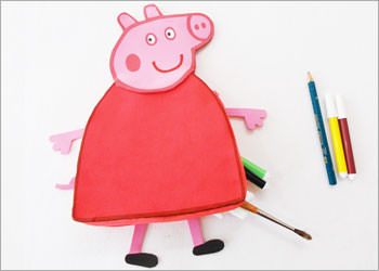 DIY Kid's Craft Idea : How To Make Peppa Pig Pencil Pouch