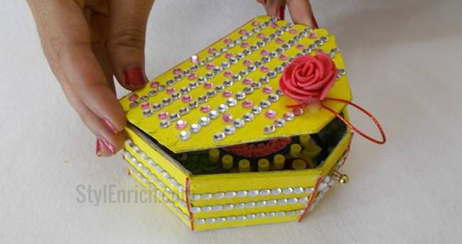 DIY Recycled Crafts How To Make Ice Cream Sticks Handmade Jewellery Box