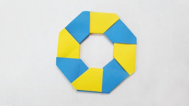 Make A Hexagon Shaped Circle By Inserting And Locking Paper Units Watch The Tutorial To Learn Push Out Get Ninja Star