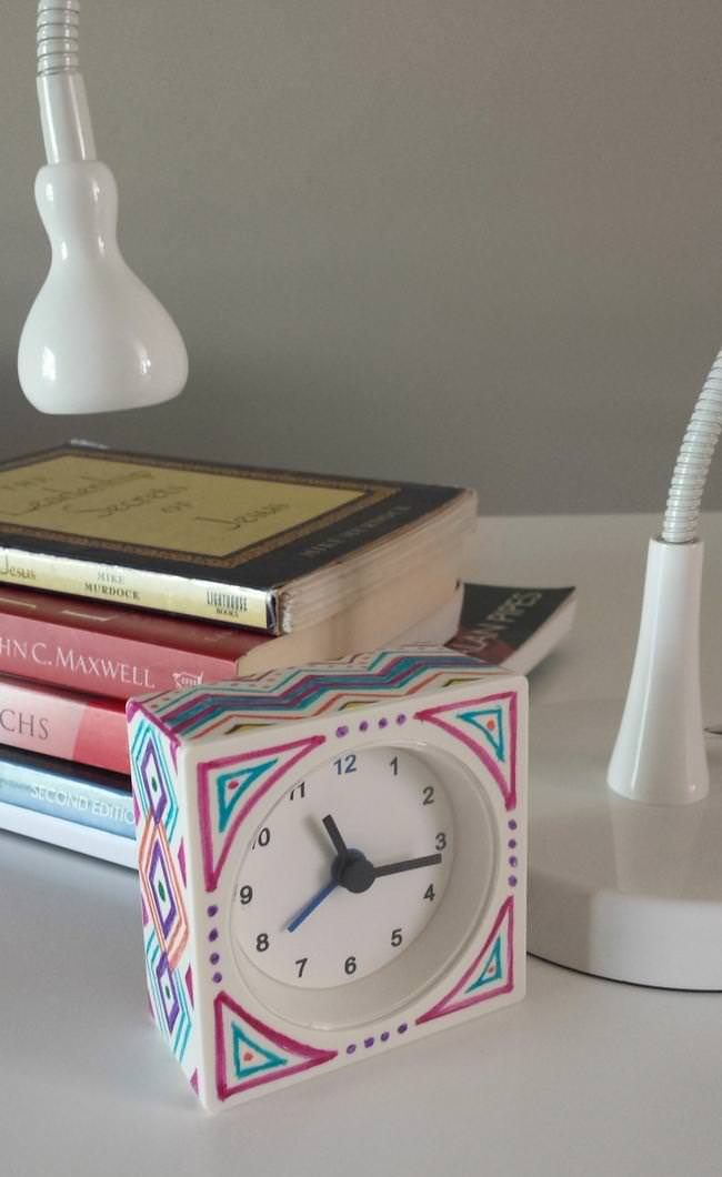 ikea-hack-sharpied-alarm-clock-diy-tribal-print-jpg