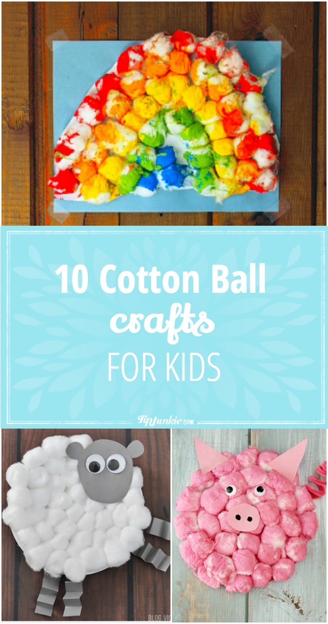 10 Cotton Ball Crafts for Kids