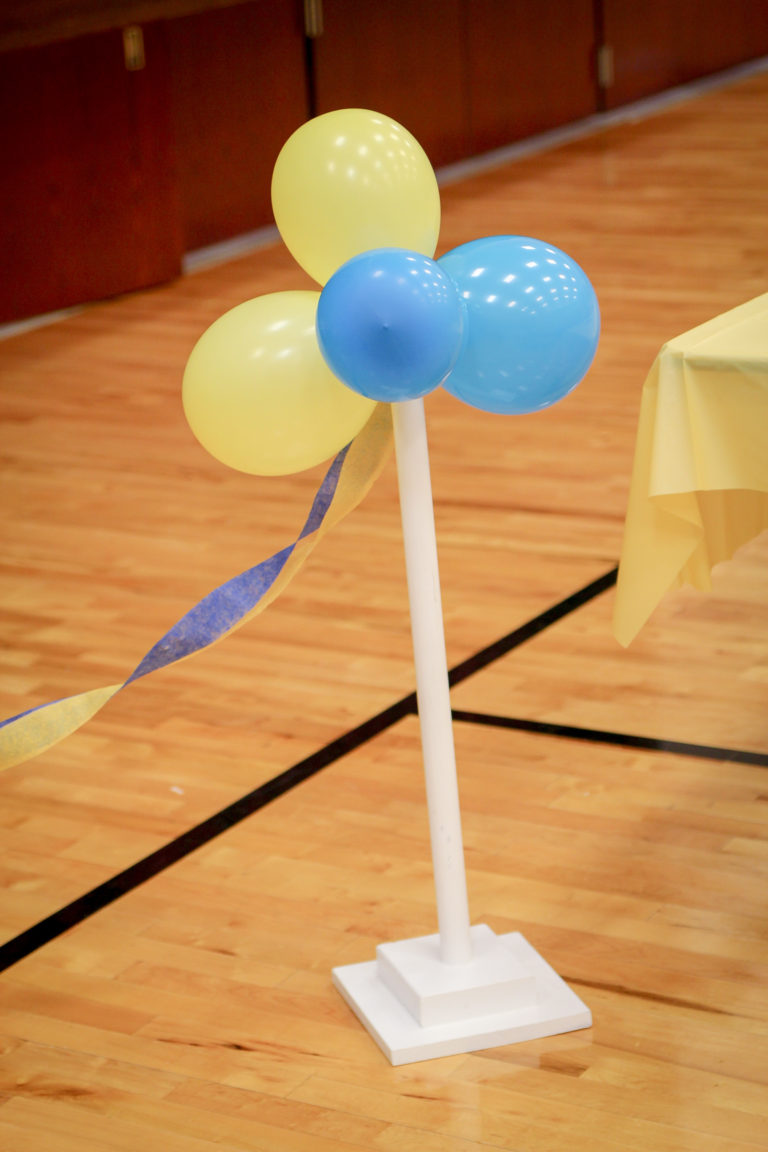 Blue and Gold Party Balloons