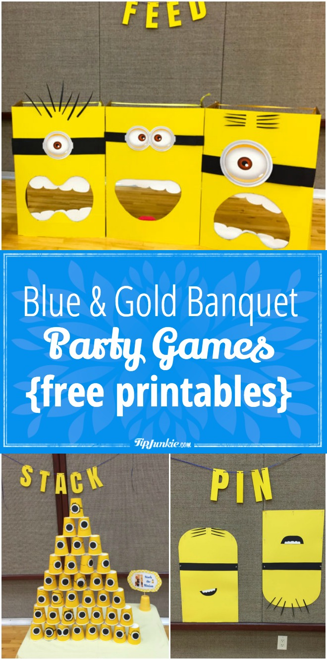 Blue and Gold Banquet Party Games {free printables}
