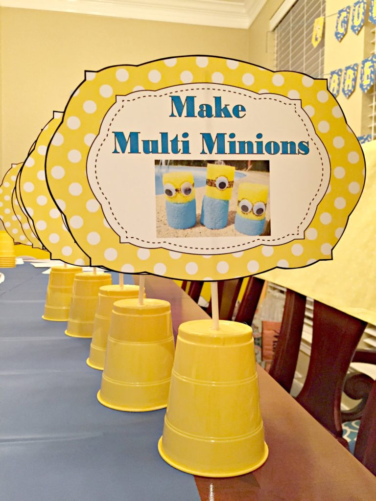 Blue and Gold Party Game Signs