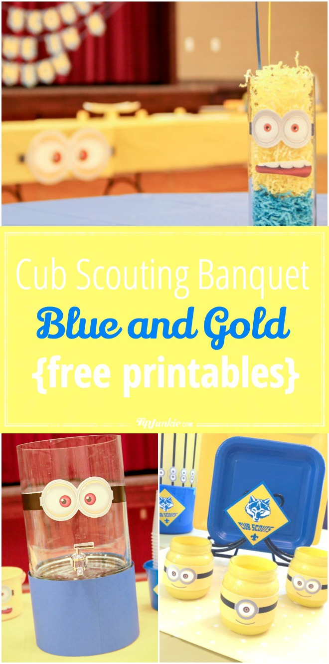 Cub Scouting Blue and Gold Banquet {free printables}