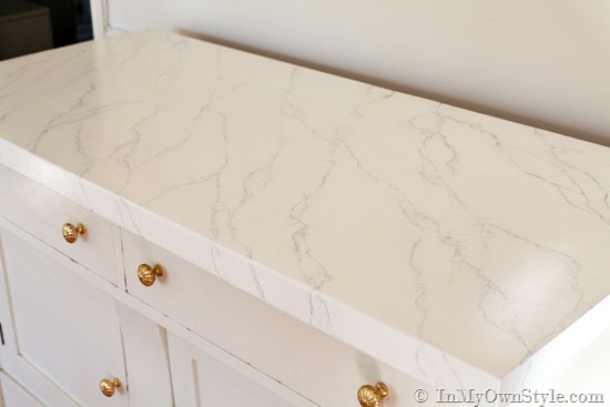 Faux Carrara Marble Painting Technique