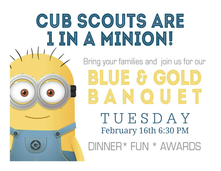 Minion Invite -Blue and Gold Banquet
