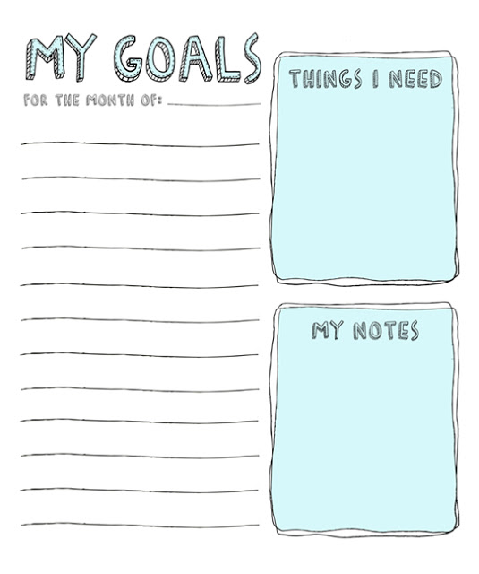 Free Goal Setting Worksheet Printables  Tip Junkie