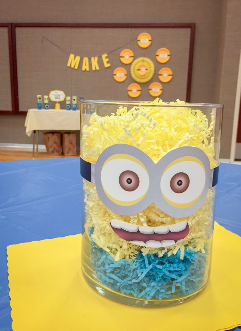DIY Blue and Gold Centerpieces