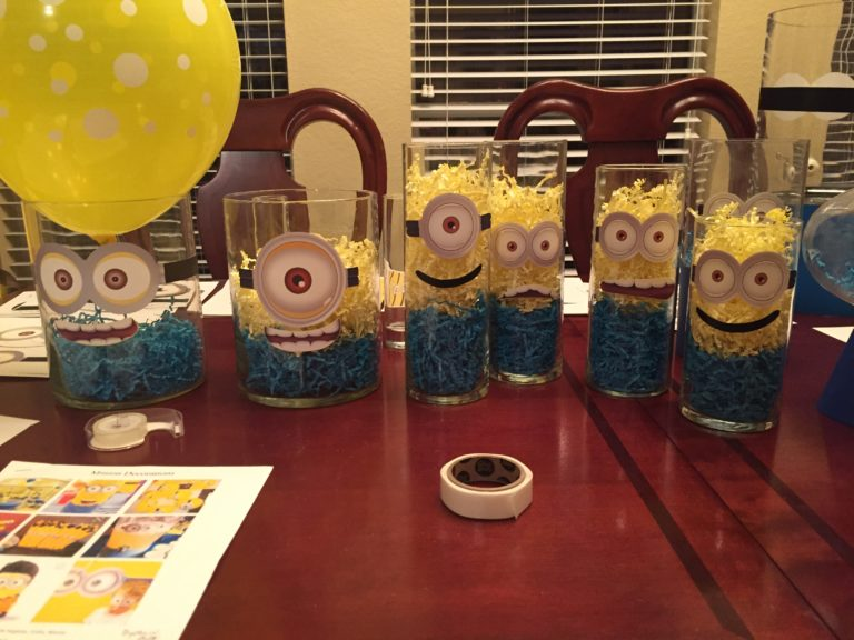 Glass Minion Centerpieces