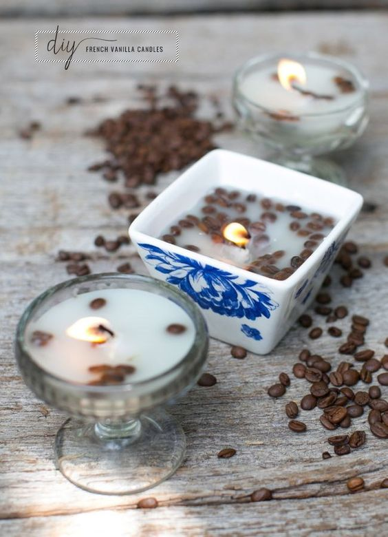 DIY French Vanilla Candles