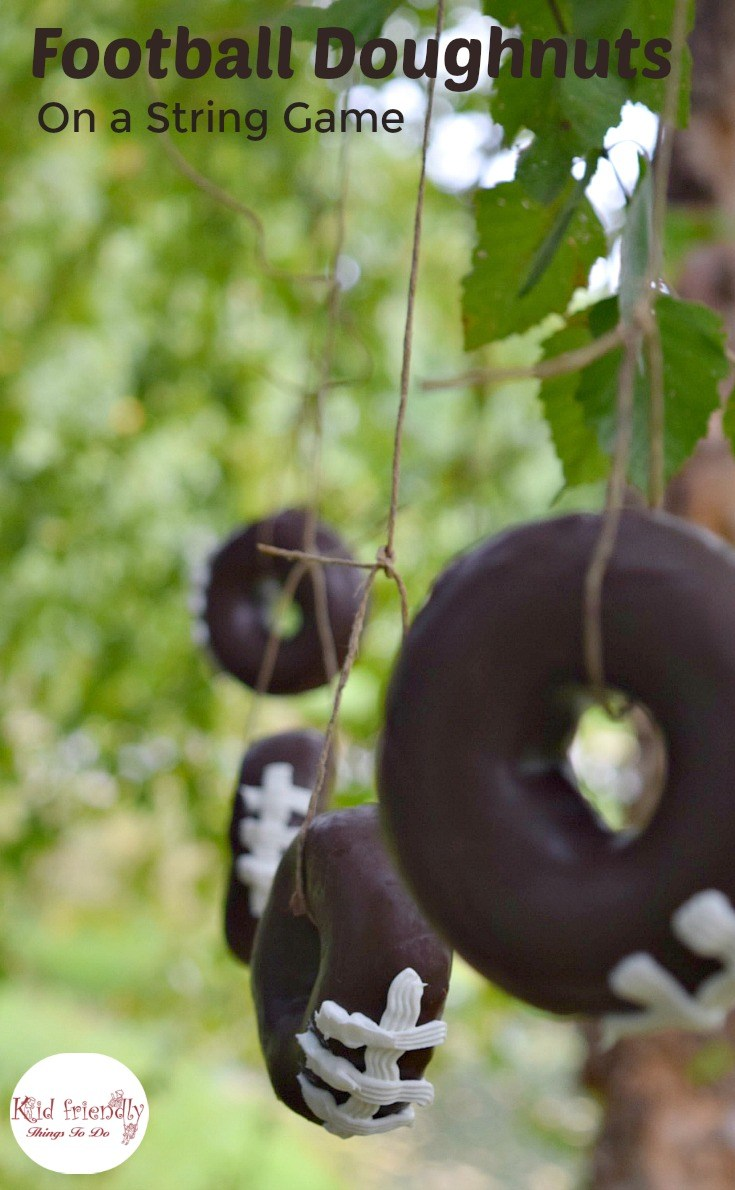 football doughnuts on a string game
