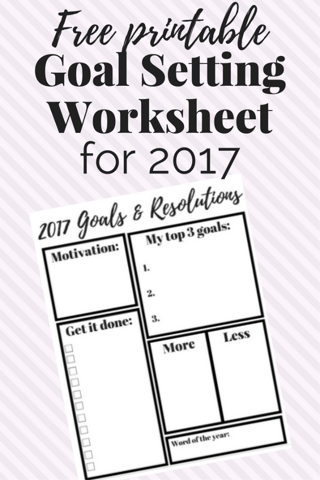 8 Free Goal Setting Worksheet Printables | Tip Junkie