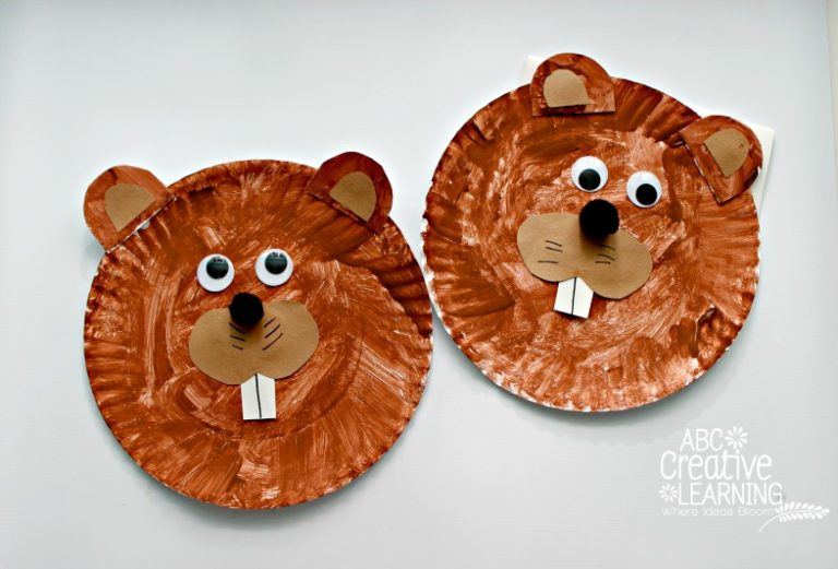 Groundhog Paper Plate