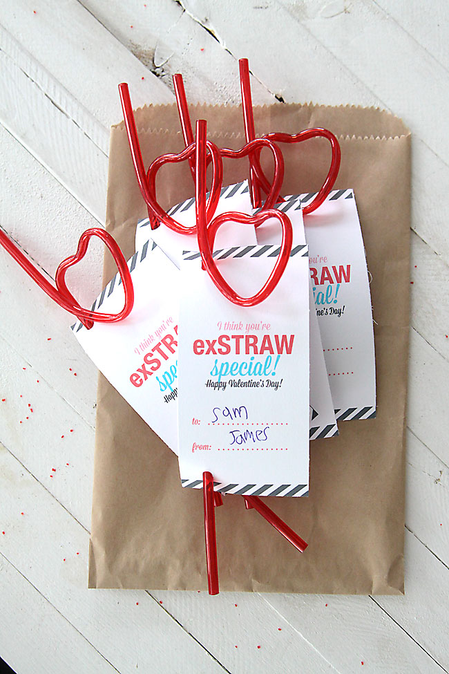 """You're ExStraw Special"" Valentine Printable"