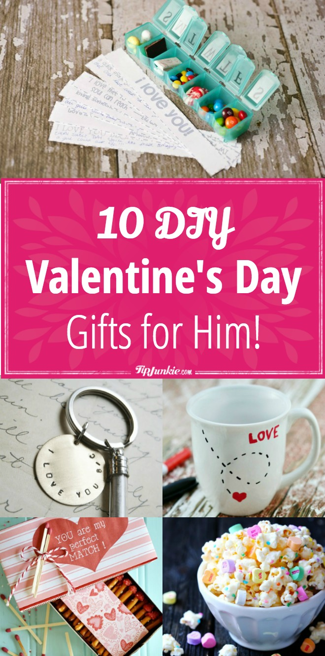 10 Diy Valentine S Day Gifts For Him Tip Junkie