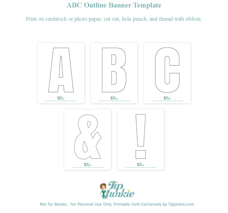 picture regarding Free Printable Letter Templates called Alphabet Totally free Printable Letters no cost stencil Idea Junkie