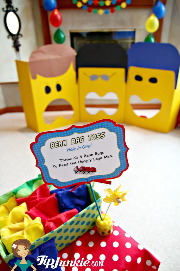 Bean Bag Toss Lego Party Game for Kids by Tip Junkie