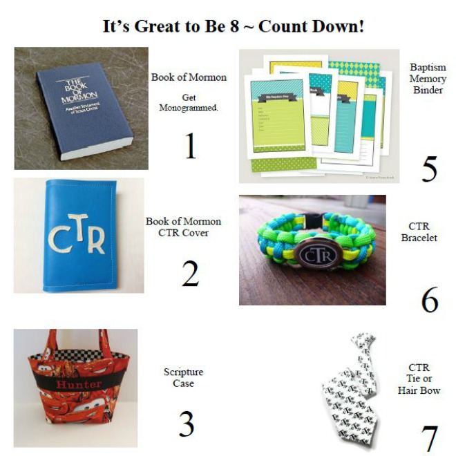 Its Great to be Eight Countdown Baptism Gifts on Tip Junkie