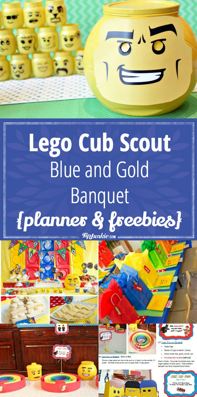 lego cub scout blue and gold banquet {planner & freebies} – tip junkie