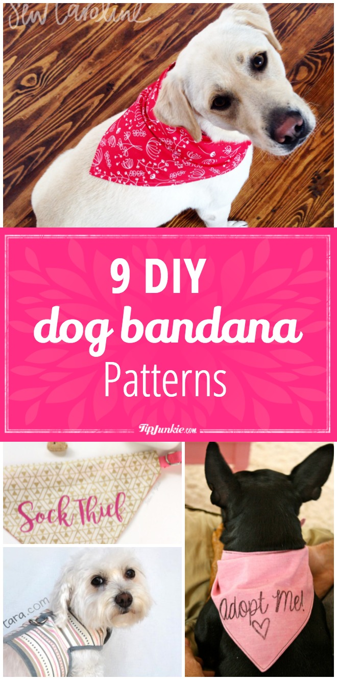 9 diy dog bandana patterns tip junkie for Dog bandana template