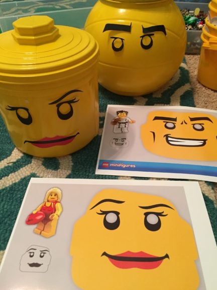 Yellow Tub DIY Lego Man Minifigure from TipJunkie