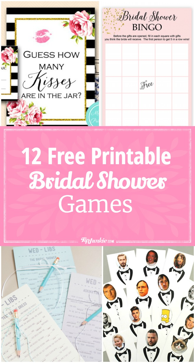 12 Free Printable Bridal Shower Games