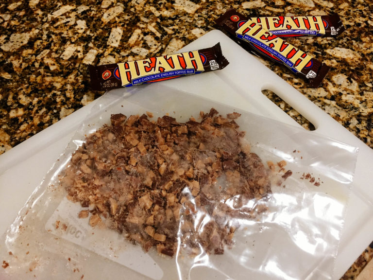 Crushed Heath Bar Cake