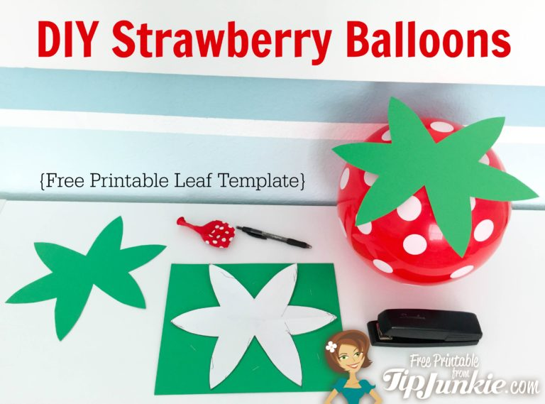 DIY Strawberry Red Balloon Template on TipJunkie