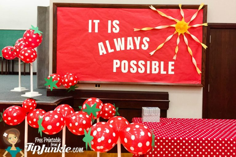 It's Always Possible Strawberry Red Balloon Party Decor