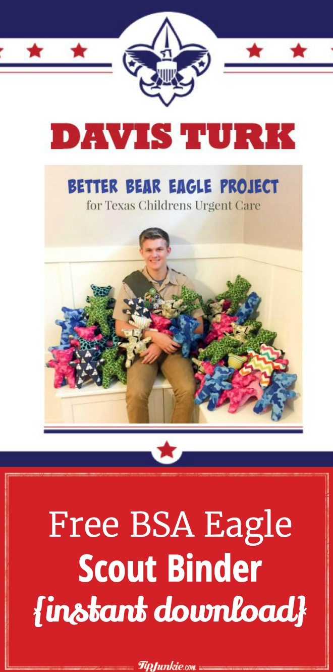 Free BSA Eagle Scout Binder {instant download}. SO helpful!