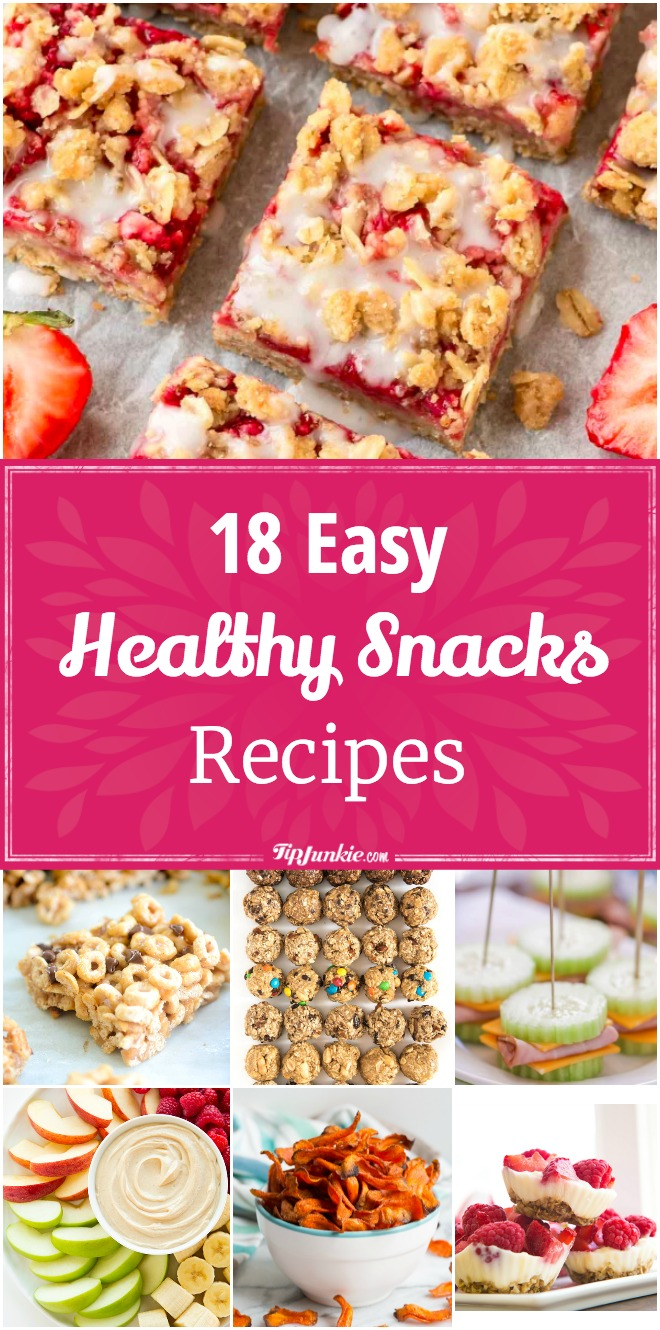 18 Easy Healthy Snacks [recipes]