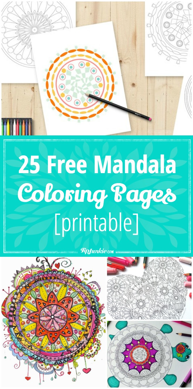 25 Free Mandala Coloring Pages [printable]