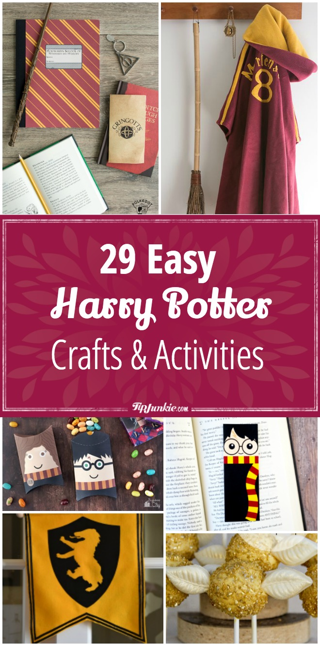 29 harry potter crafts activities easy tip junkie 29 diy harry potter crafts activities solutioingenieria Image collections