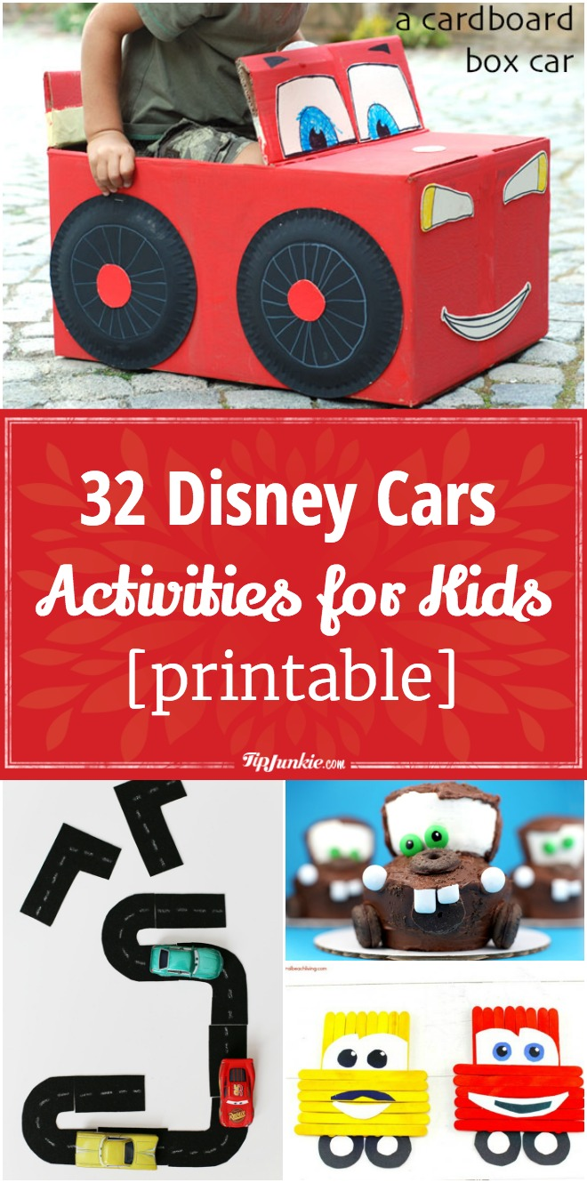 32 Disney Cars Activities for Kids [printable]