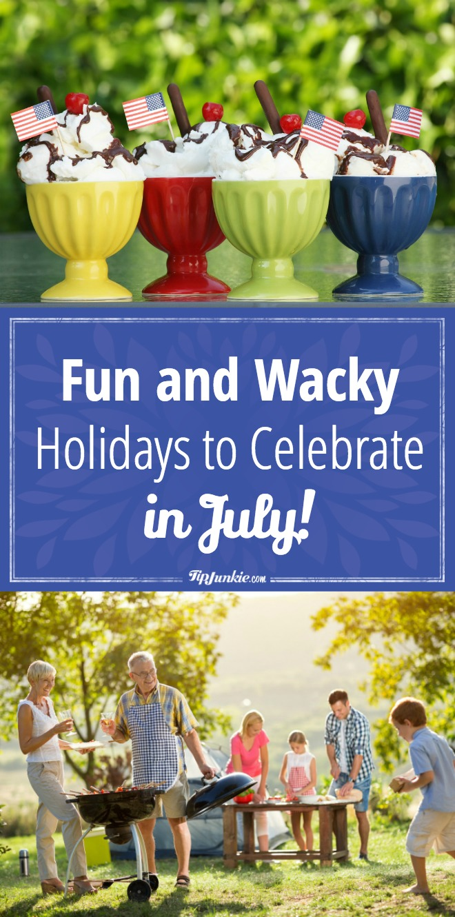 Ready to celebrate like a rock-star? Here are tons of Fun and Wacky Holidays to Celebrate in July! [printable]