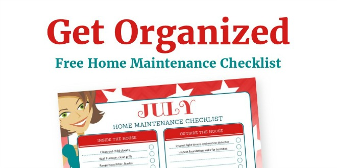 July Organization and Home Repair Checklist Free Printable_Featured