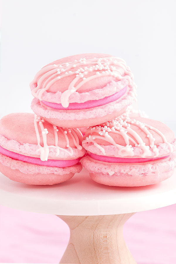 Pink Champagne Macarons