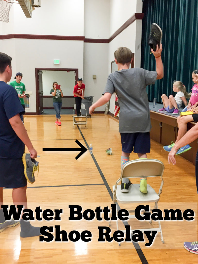 Water Bottle Game Shoe Relay Race