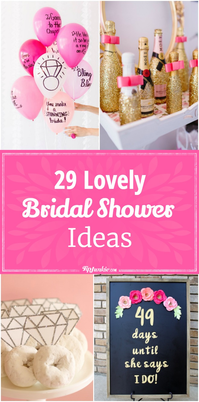 29 Lovely Bridal Shower Ideas [printable]