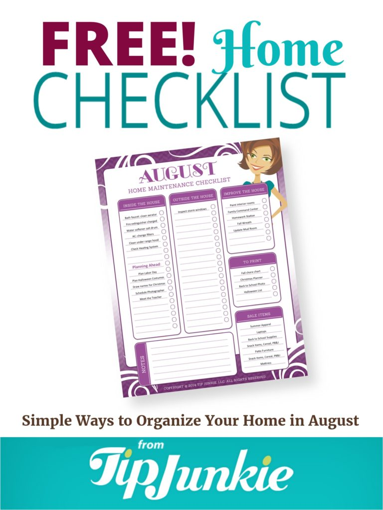 August Organization and Home Repair Checklist_Tall