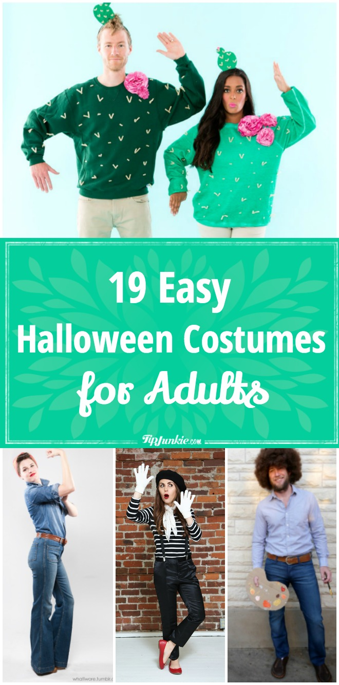 19 DIY adult Halloween costume ideas that are perfect for men and women. So easy  sc 1 st  Tip Junkie : easy adult costume ideas  - Germanpascual.Com