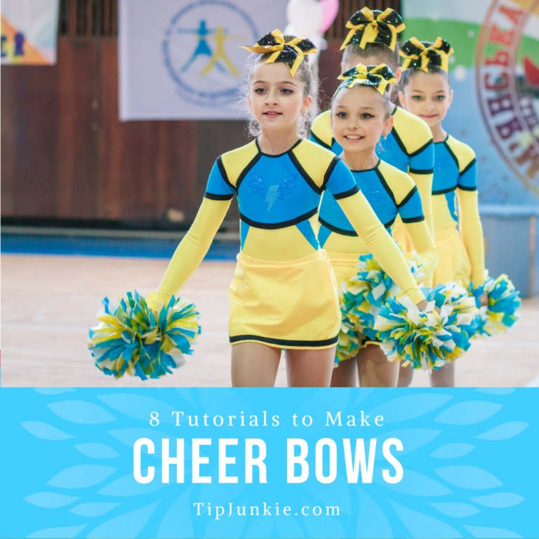 8 How to Make Cheer Bows Tutorials Tip Junkie