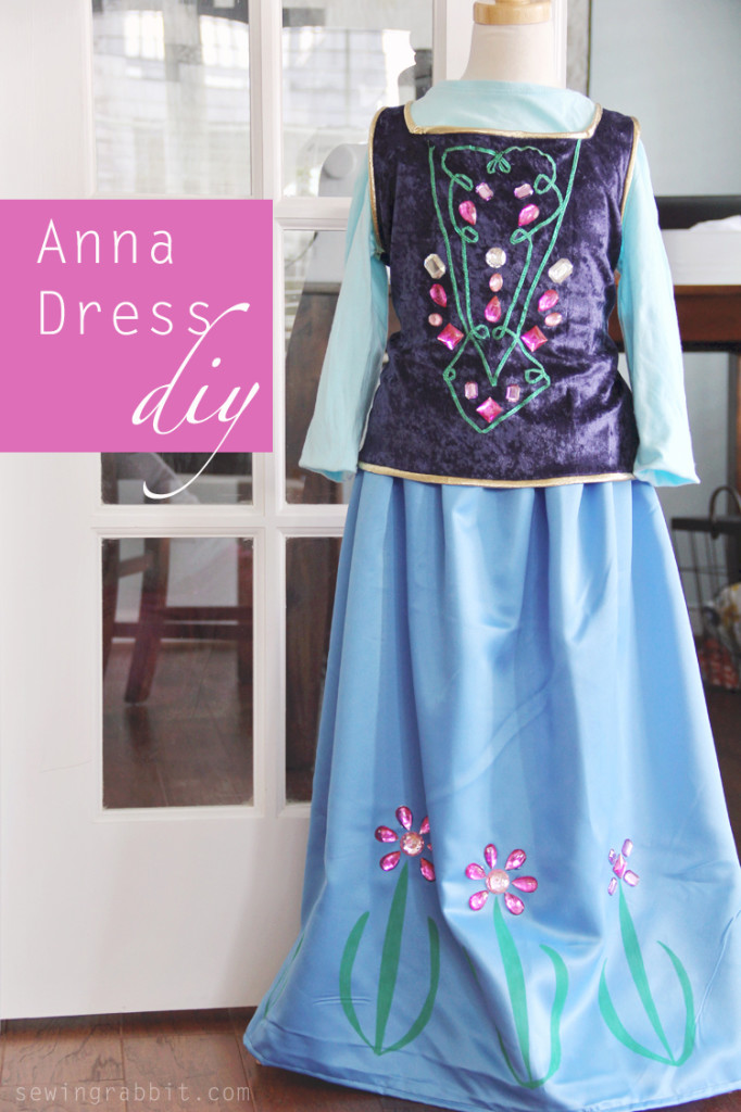 Disney Princesses Anna Frozen Halloween Costumes for Girls