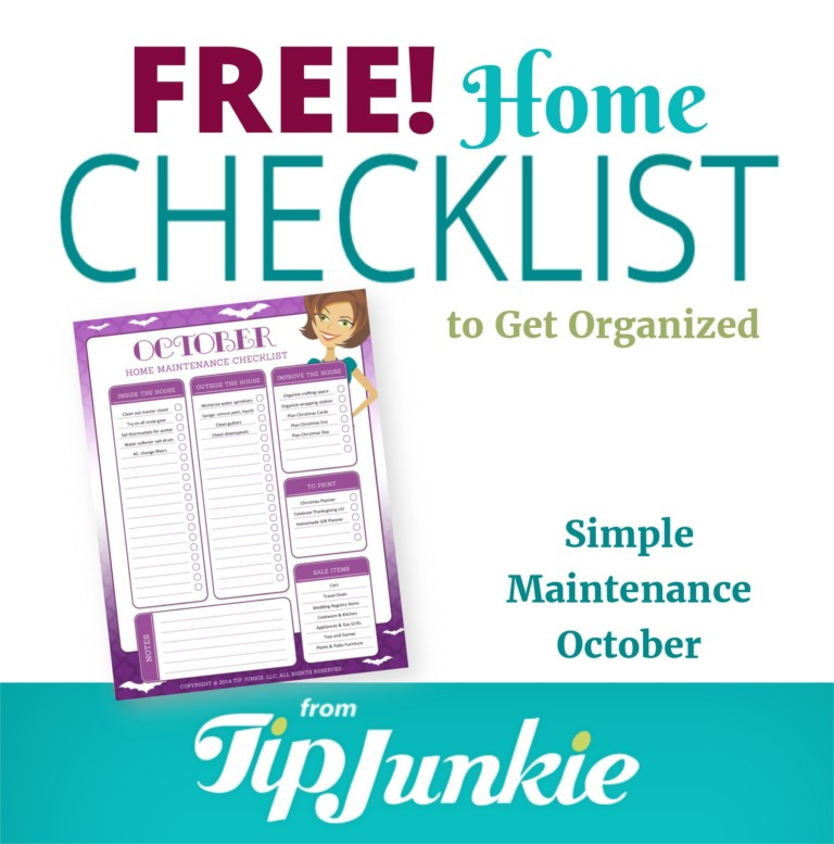 October Organization and Home Repair Checklist_Square