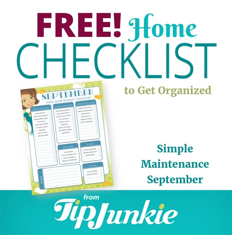September Organization and Home Repair Checklist_Square