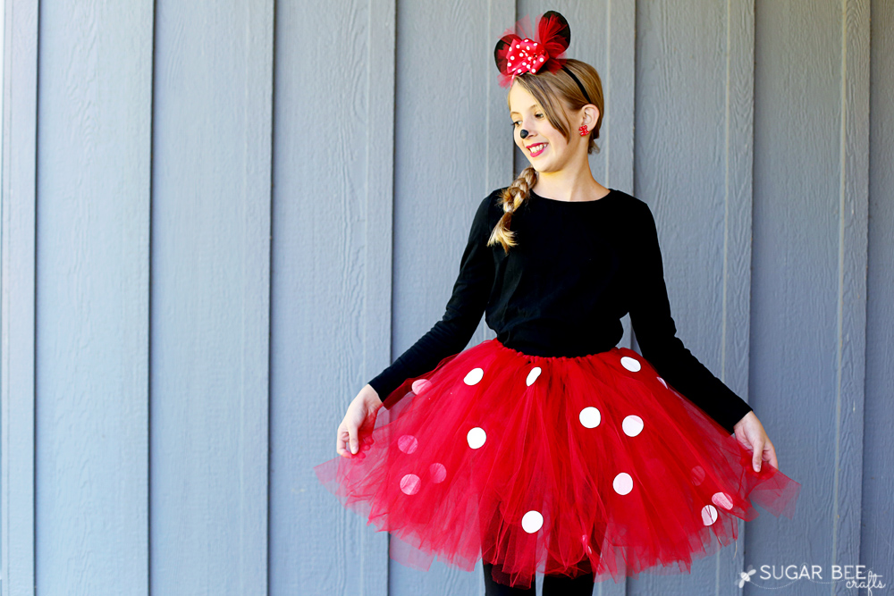 easy minnie mouse diy tutu costume  sc 1 st  Tip Junkie & 50 Easy Halloween Costumes for Girls | Tip Junkie