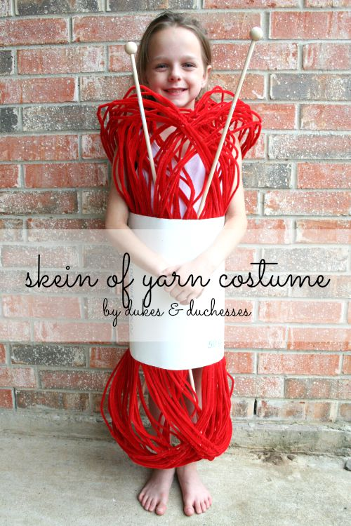 Skein of Yarn Halloween Costume for Girls