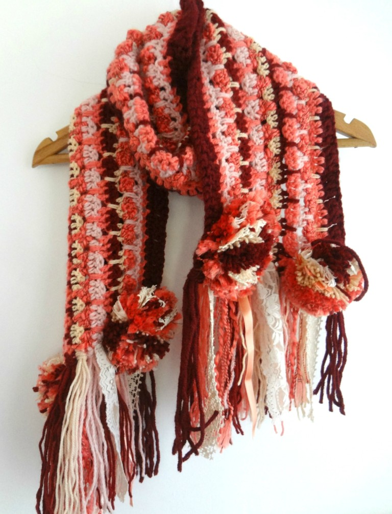 How To Make A Bohemian Crochet Scarf Free Pattern Pictures Tip